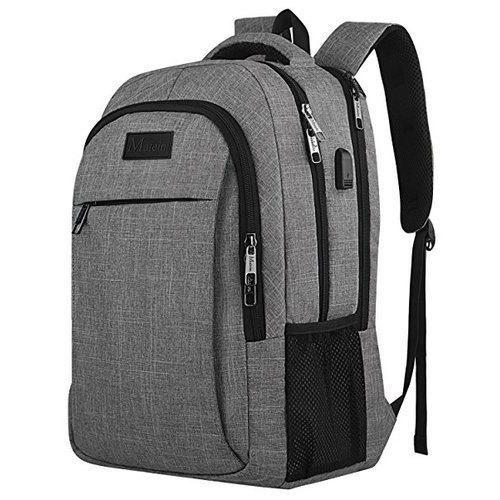 689a8803a346 Jacquard Nylon Black And Grey Laptop Backpack