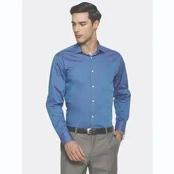 Collar Neck Plain Solid Formal Full Sleeve Shirts