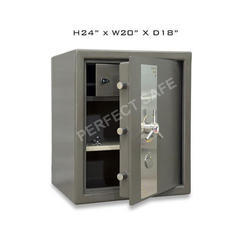 Perfect Safe Grey 24x20x18 Inch Mild Steel Wall Coffers