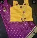 Wedding Wear Silk Girls Crop Top 20, Size: 26-36, Age: 5y To 8y