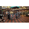 Tuff Floor Gym Rubber Tiles Flooring, Thickness: 10mm