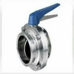 MICROTECH ENGINEERING Stainless Steel Butter Fly Valve TC End, For Industrial, Size: Standard