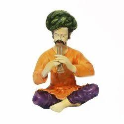 Rajasthani Man Pipni Statue