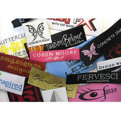Printed Taffeta Woven Labels, Packaging Type: Packet
