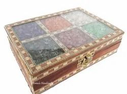 Wooden Jam Stone Jewellery Box