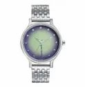 """Round Silver Fastrack Sunburn Analog Multicolor Dial Woman""""s Watch-6212sm01"""