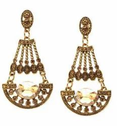 Fancy and Western Style Earrings With Imported Stones and Made With Light Weighted Alloy Metal