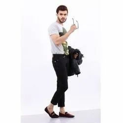 Mens Black Slim Fit Jeans, Waist Size: 30-40 Inches