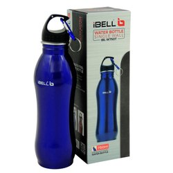 iBELL W750T 750ml Stylish Healthy Stainless Steel Water Bottle with Key Chain(Royal Blue)
