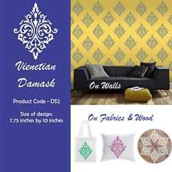 Venetian Damask Fabric Stencil