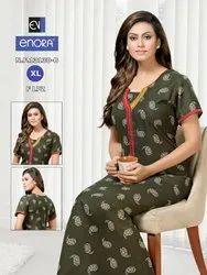 Half Sleeve Night Dress Designer Simran Nightwear
