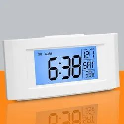 Vista Back Light Table Clock with Temperature