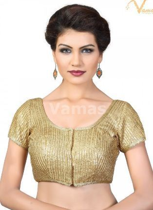 9199c8fe0f9891 Front Open Blouses - Vamas Gold Sequence Front Open Blouse x-394sl ...