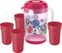 Dynasty Plastic Printed Jugs With Tumblers
