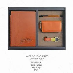 Leatherite Notebook Combo Sets (4 in 1)