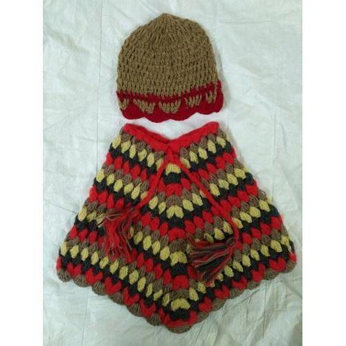 27900de3814f Woolen Kids Poncho With Cap