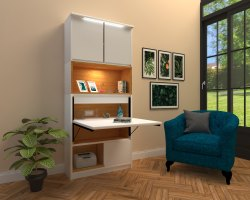 Plywood with laminate finish Pluto A - Compact Sleek Study Table, For Home
