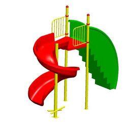 Spiral Playground Slide