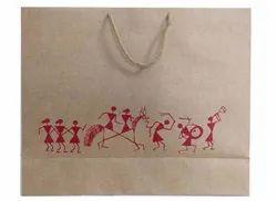 Brown Printed Paper Shopping Bag