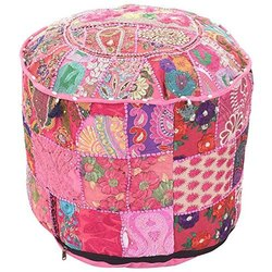 Indian Handmade Round Stools Pouf