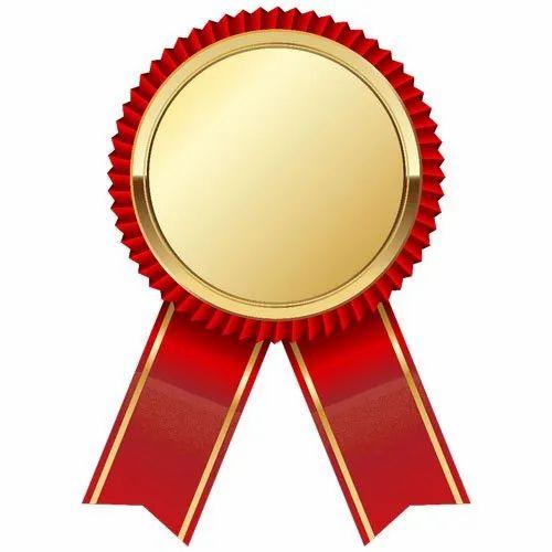 Ribbon Gold Medal at Rs 80/box   Medals   ID: 20781036788
