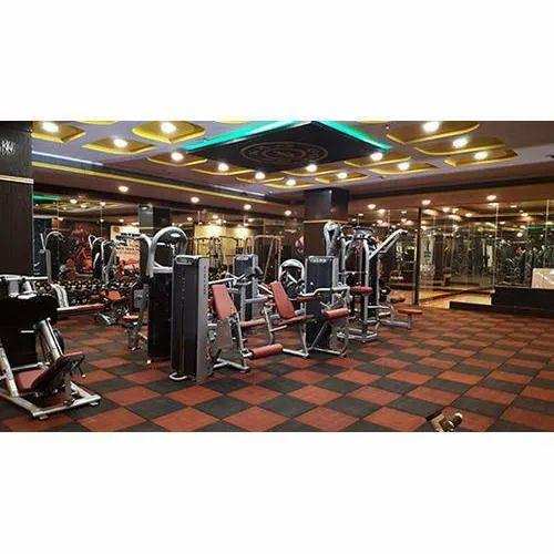 Tuff Floor Gym Rubber Tiles Flooring