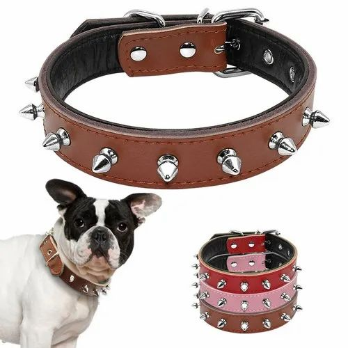Dog Leather Spike Collars
