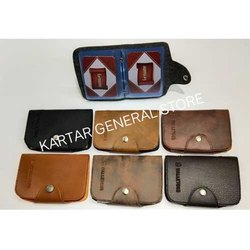 Leather Foldable ID Card Holder, Packaging Type: Box