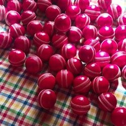 Pink Round Leather Cricket Ball, 5.75 Oz