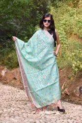 Designer Banarasi Pistal Shades Multi Dupatta
