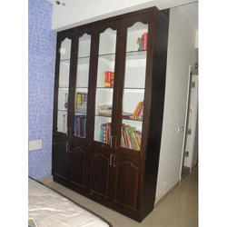 Brown Wooden Book Cabinet