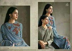 Crepe STRAIGHT Digital Printed Salwar Suit, Large, Dry clean