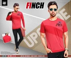 Round and V neck Men Finch Classic Mens Cotton T Shirt