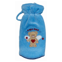 Pink, Navy Blue Baby Angel Bear Bottle Covers