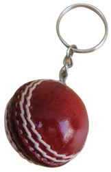 Cricket Ball Keychain