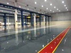 Industrial Epoxy Flooring Service, Thickness: 5 mm