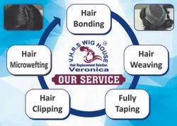 Black,Brown With in 2 Hour's Non- Surgical Hair Replacement Services