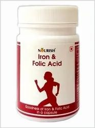 NOURISH Iron and Folic Acid ??? 60 Capsules