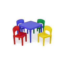 FRP Chair Kids Four Seater Furniture, for School, Size/Dimension: Small