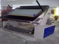 Semi-Automatic Mild Steel Tubular Knitted Fabric Inspection Machine, For TEXTILES
