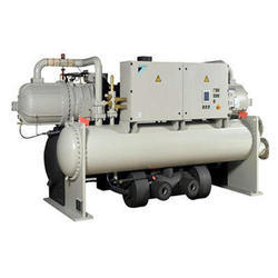 Three Phase Semi-Automatic Commercial Centrifugal Water Cooled Chiller, For Industrial, Capacity: 7-100 ton