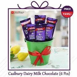 Chocolaty Choco Cadbury Dairy Milk Chocolate Vase, Number Of Pieces: 6