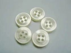 White Round Mix Polyester Buttons, For Garments