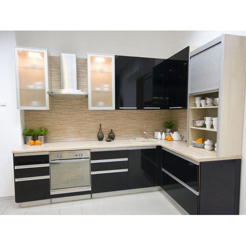 Designer L Shaped Modular Kitchen at Rs 2500 /square feet ...