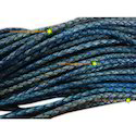 Antique Blue Braided Leather Cords