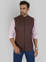Casual Wear Yugalik Trendz Brown Modi Jacket