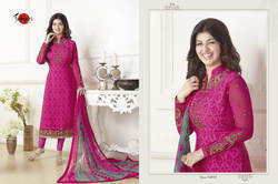 Embroidered Collar Neck Suhati Salwar Suit Fabric