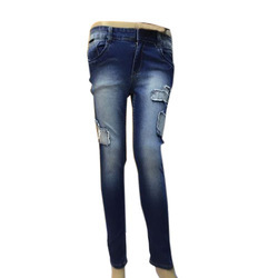 Stretchable Ladies Fashionable Rugged Jeans, Waist Size: 40