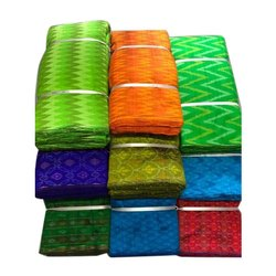 Printed Handloom Ikat Fabric, GSM: 100