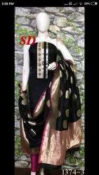 Ladies SD Chanderi Banarsi Suit